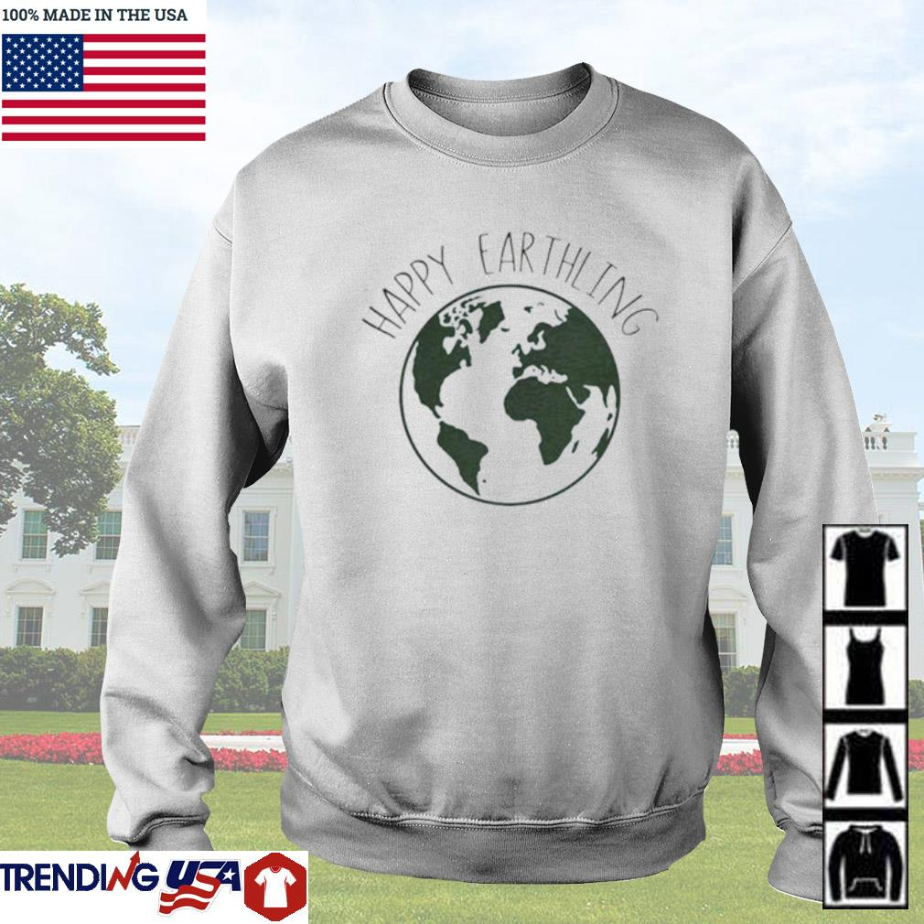 Happy Earthling Earth s Sweater White