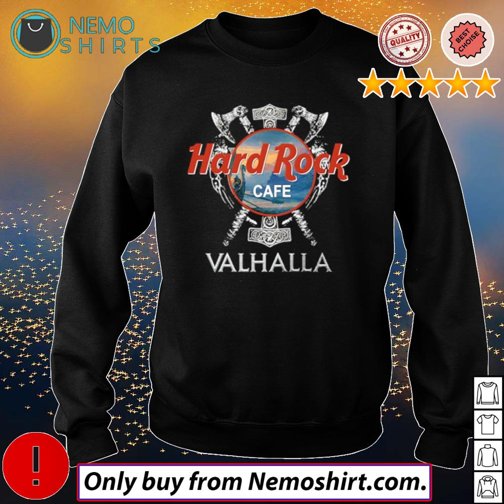 Hard Rock Cafe Valhalla Viking movie s Sweatshirt Black