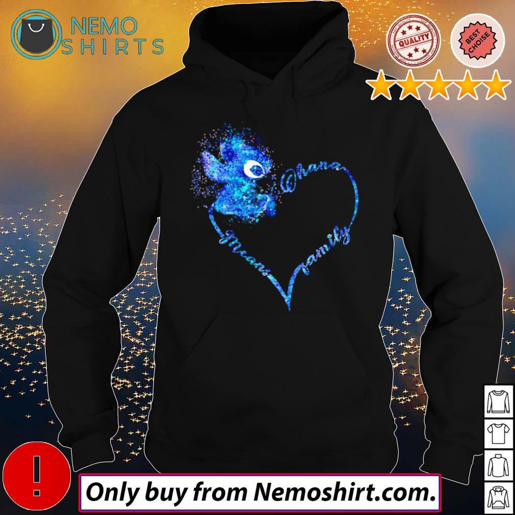 Heart Disney Stitch Ohana means family s Hoodie Black
