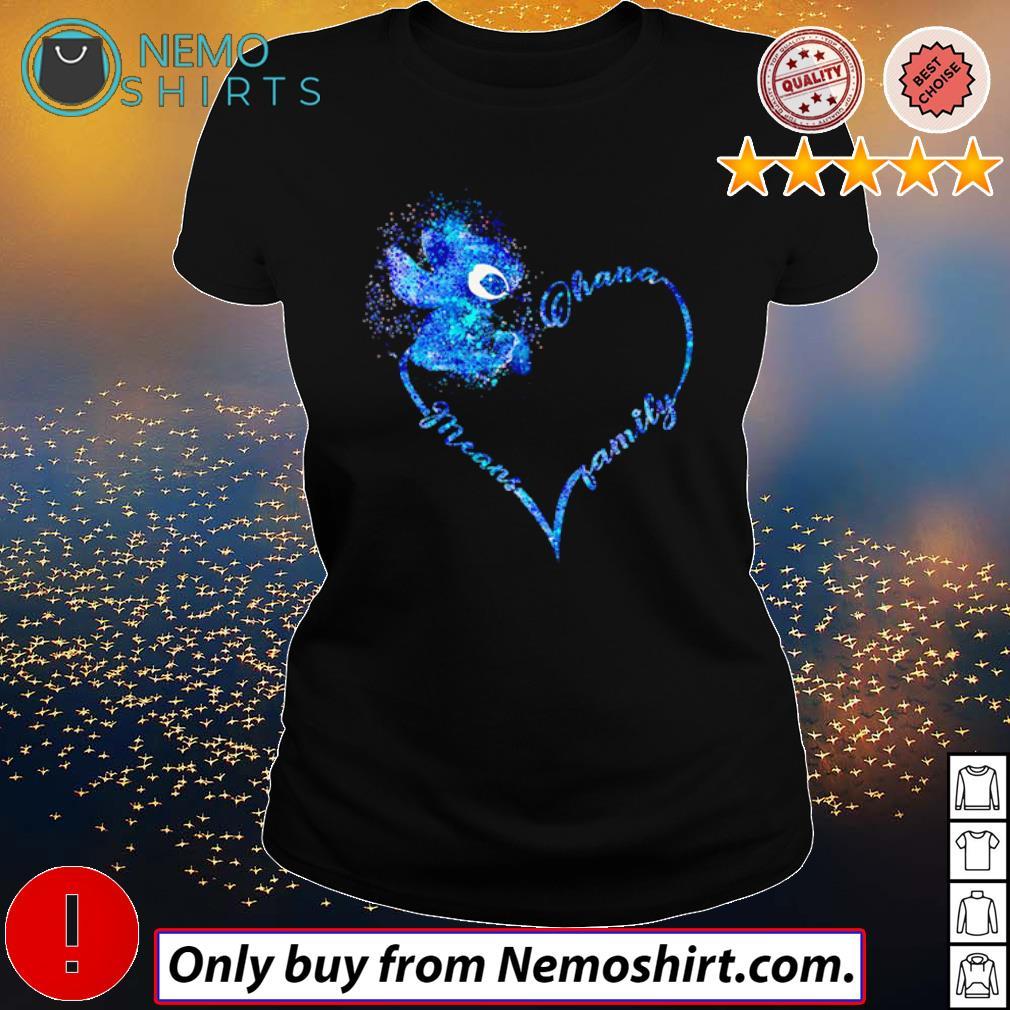 Heart Disney Stitch Ohana means family s Ladies Black