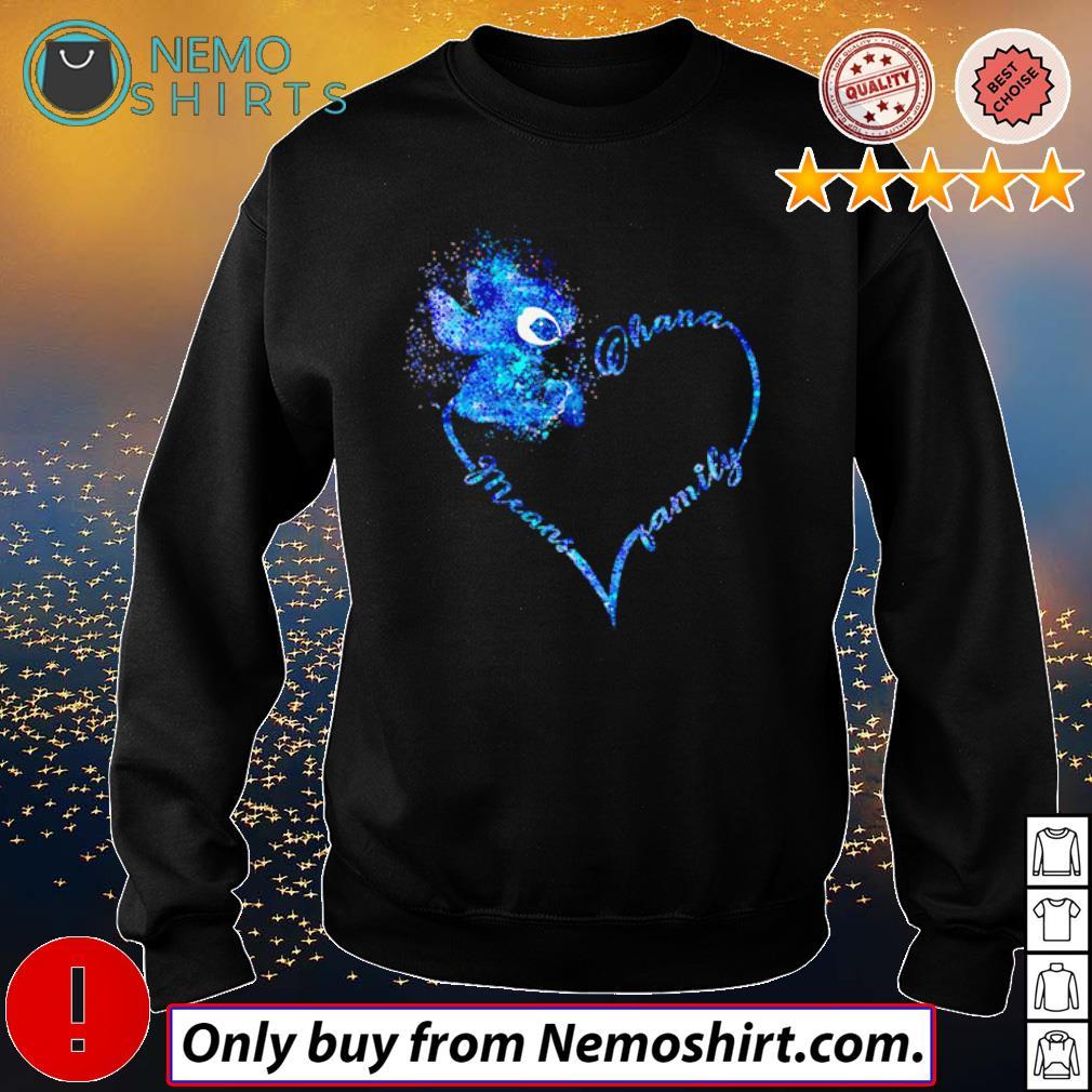 Heart Disney Stitch Ohana means family s Sweatshirt Black