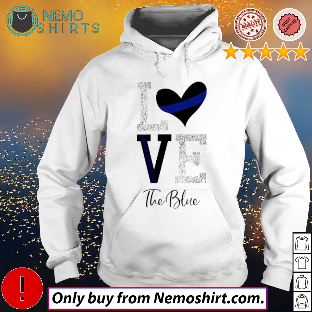 Heart Love the blue s Hoodie white