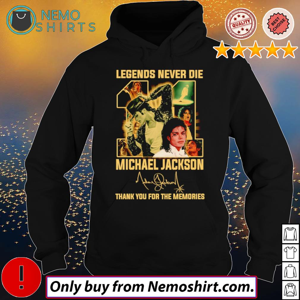 Legend never die 11 years of Michael Jackson signature s Hoodie Black