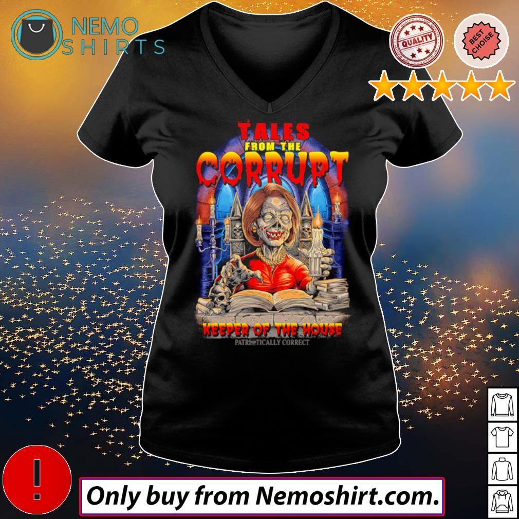 Nancy Pelosi Skeleton Tales from the Corrupt keeper of the house s V-neck Ladies Black