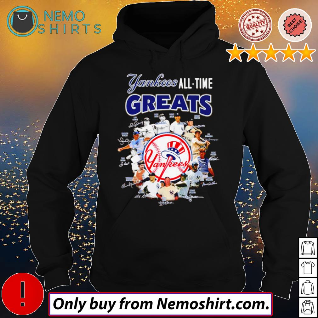 New York Yankees all time greats team players signatures s Hoodie Black