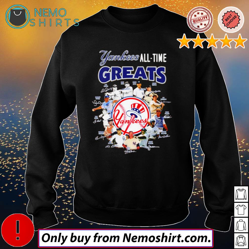 New York Yankees all time greats team players signatures s Sweatshirt Black