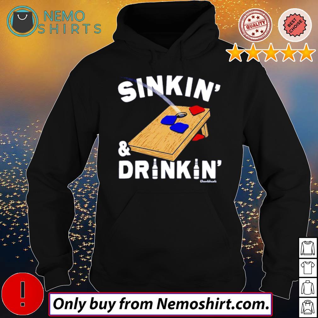 Sinkin' and Drinkin' Cornhole s Hoodie Black