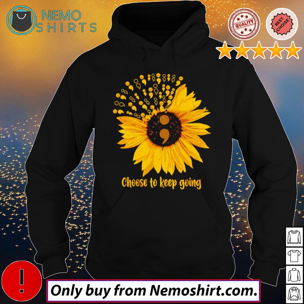 Sunflower Choose to keep going s Hoodie Black