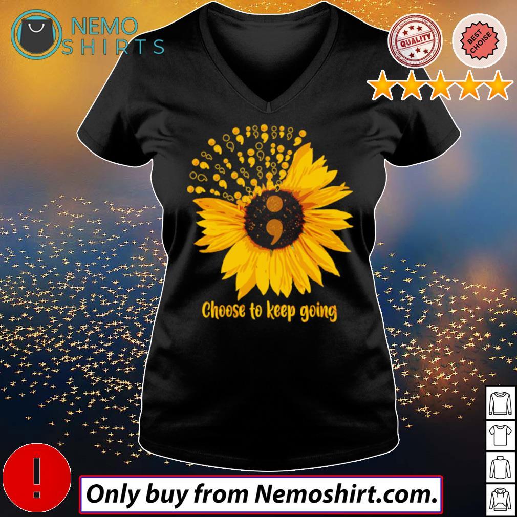Sunflower Choose to keep going s V-neck Ladies Black