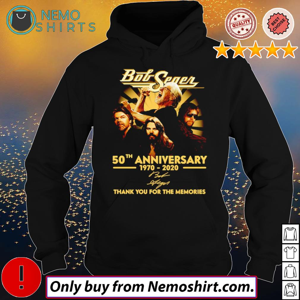 Thank you for the memories Bob Seger 50th Anniversary 1970-2020 signature s Hoodie Black
