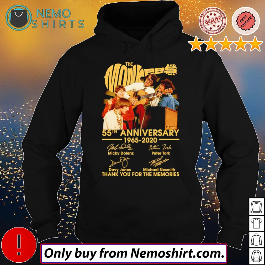Thank you for the memories The Monkees 55th Anniversary 1965-2020 signatures s Hoodie Black