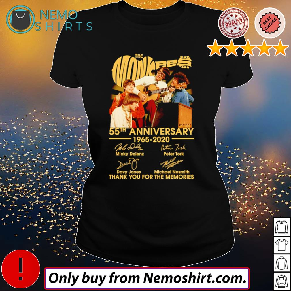 Thank you for the memories The Monkees 55th Anniversary 1965-2020 signatures s Ladies Black