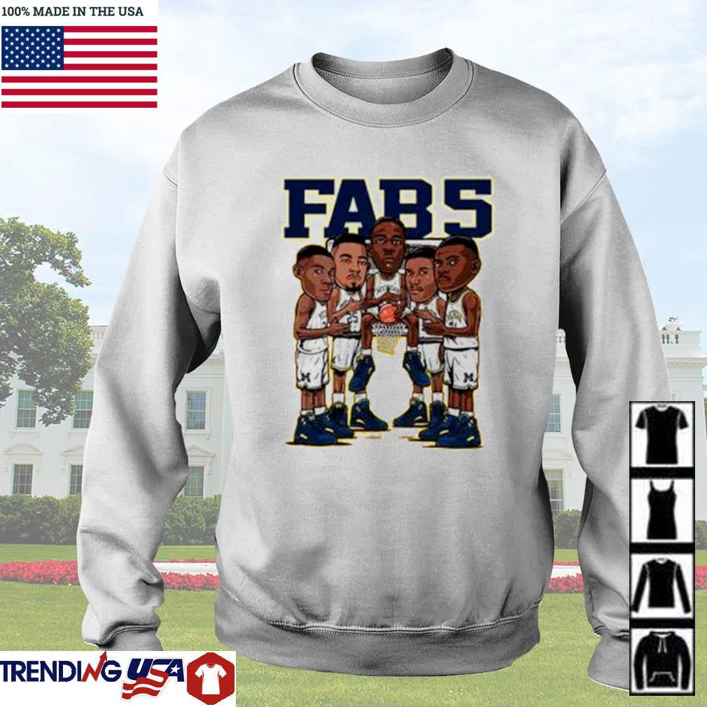 The Fab Five Michigan Wolverines s Sweater White