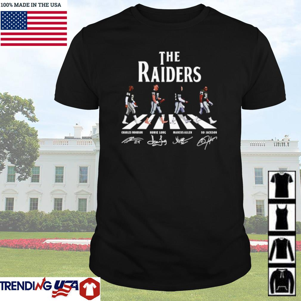 The Oakland Raiders Abbey Road team players signatures shirt