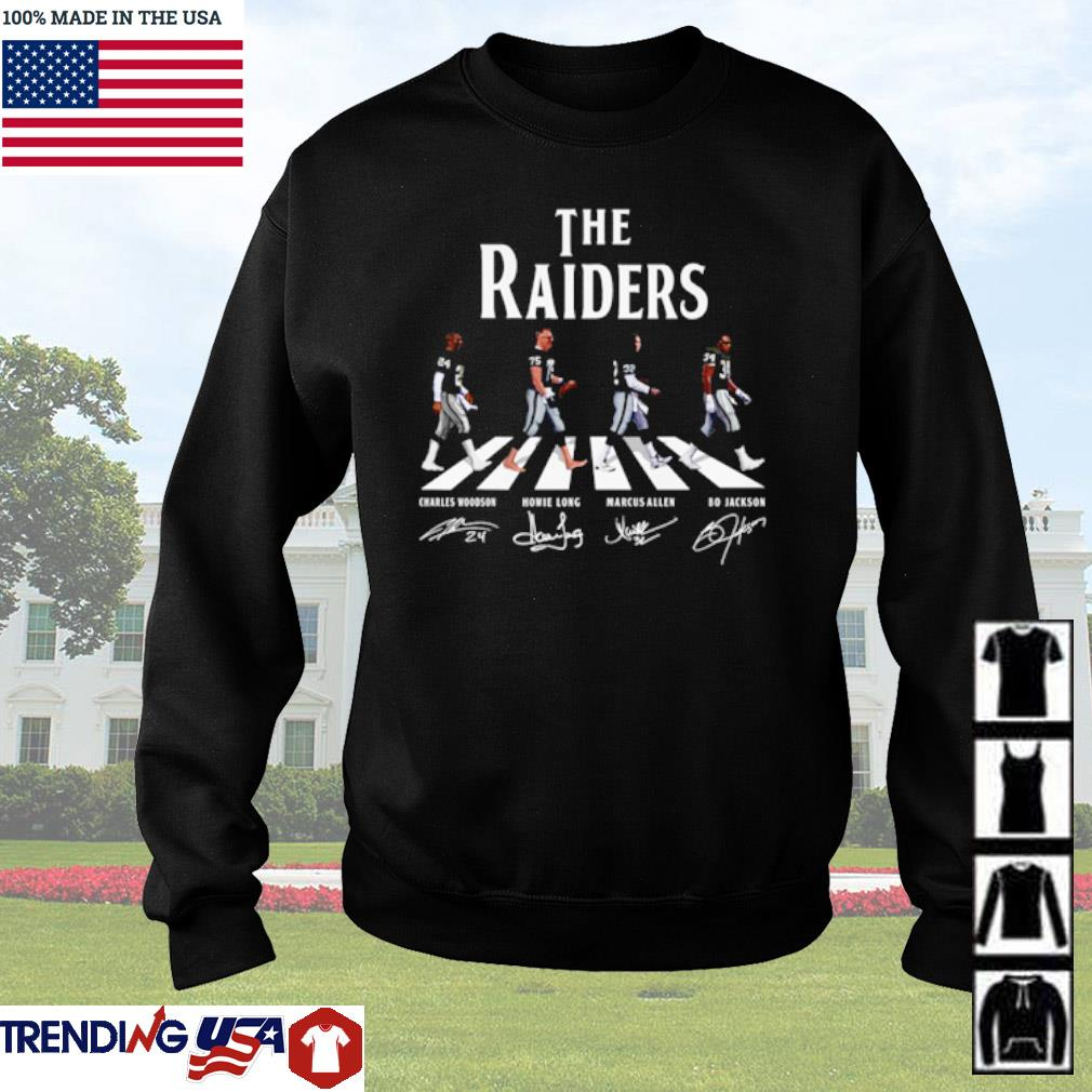 The Oakland Raiders Abbey Road team players signatures s Sweater Black