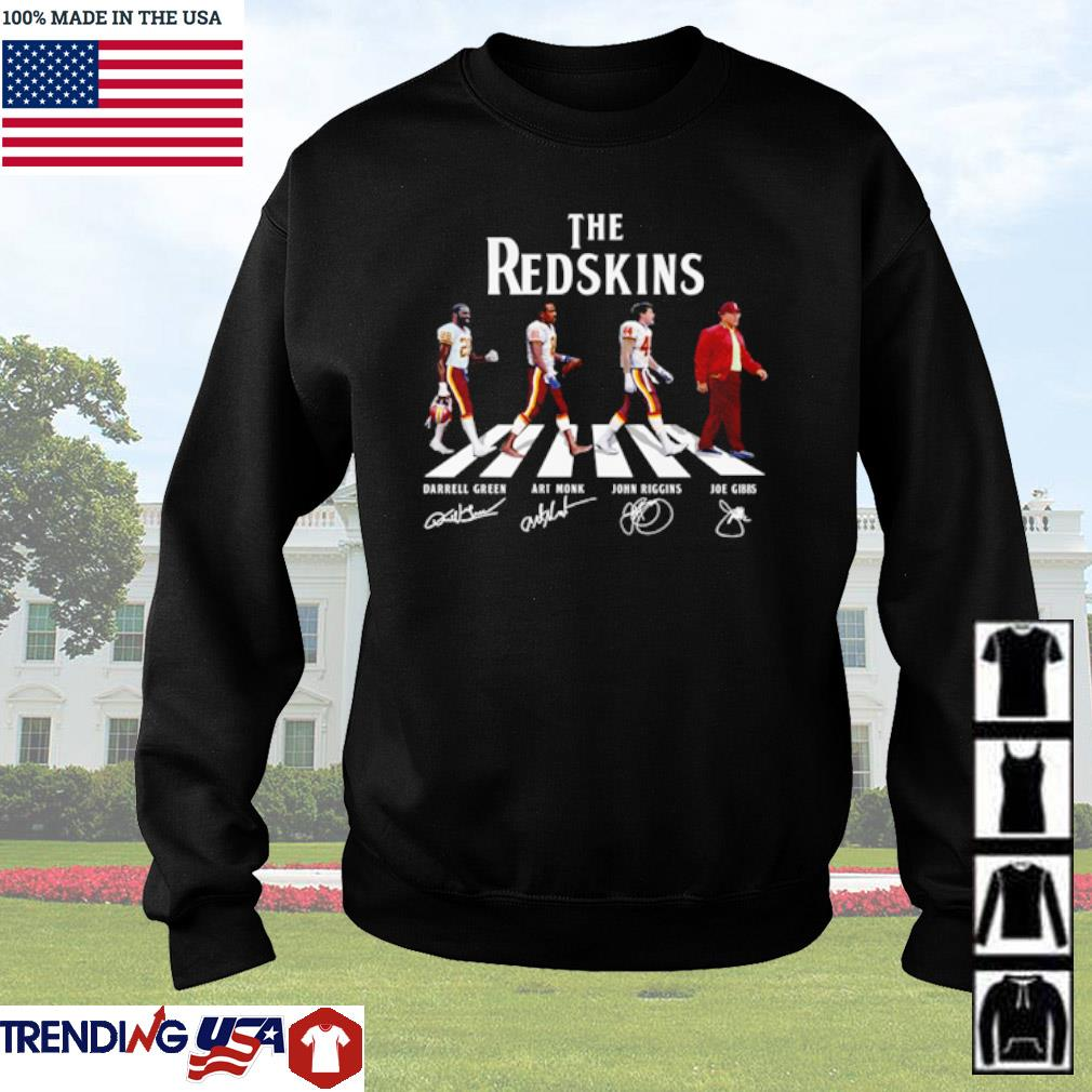 The Washington Redskins Abbey Road team players signatures s Sweater Black