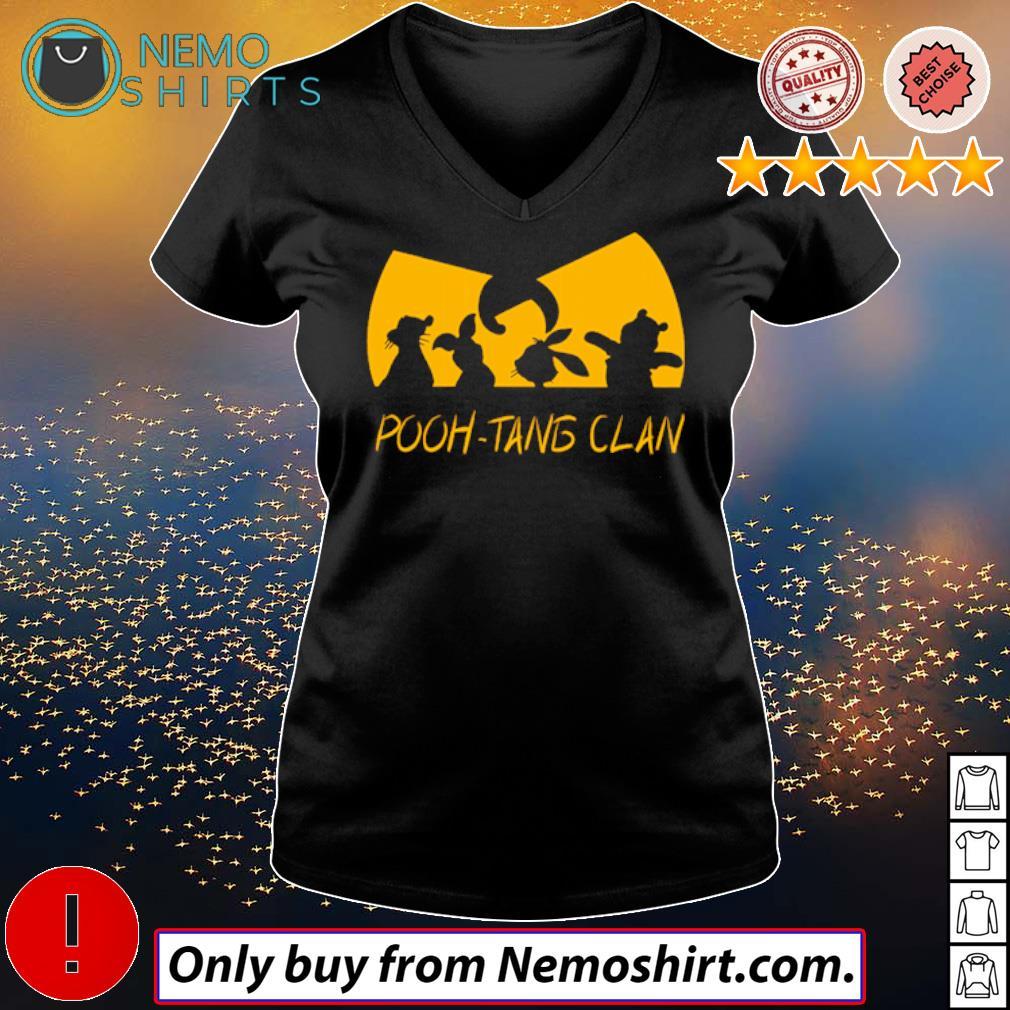 Winnie the Pooh Wu-Tang Clan Pooh-Tang Clan s V-neck Ladies Black