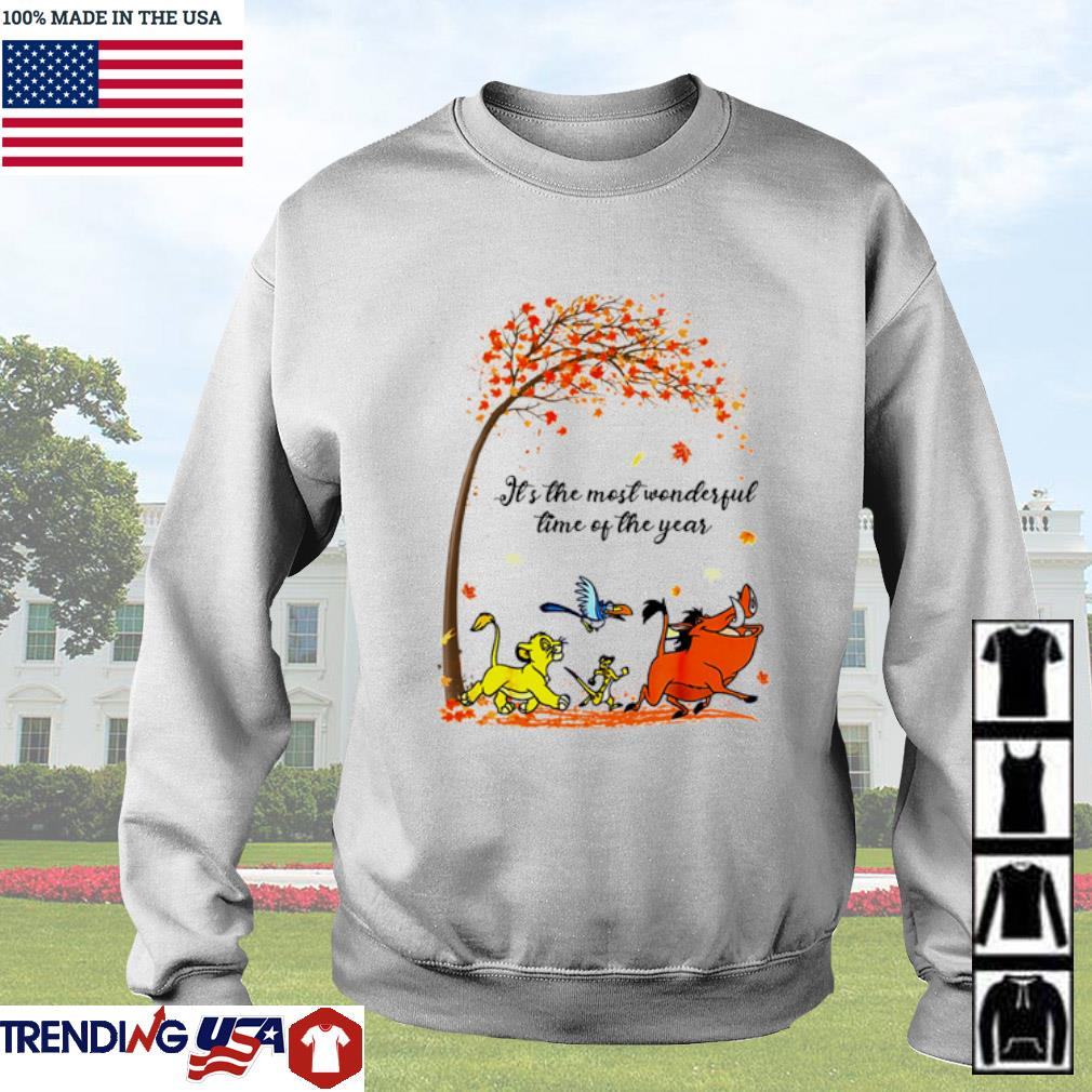Autumn Hakuna Matata it's the most wonderful time of the year s Sweater White