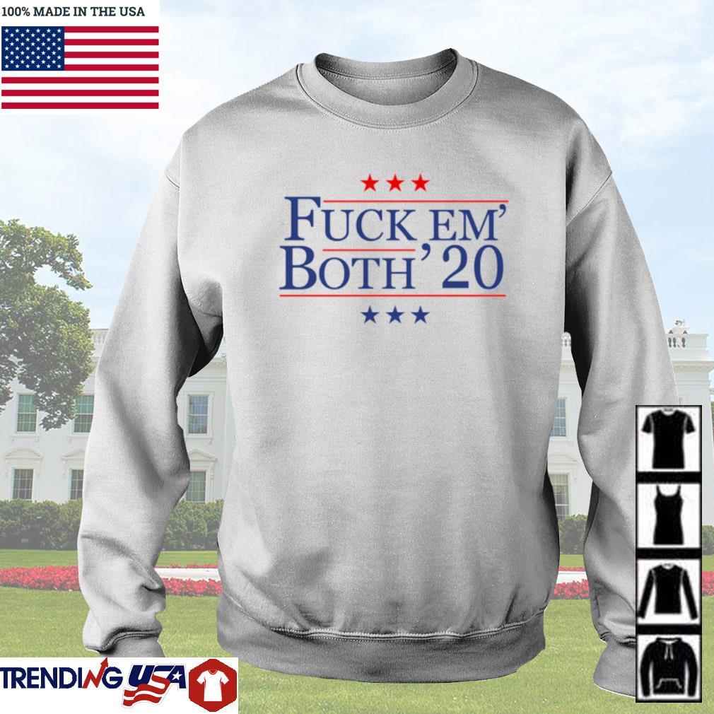 Fuck Em' Both' 20 s Sweater White