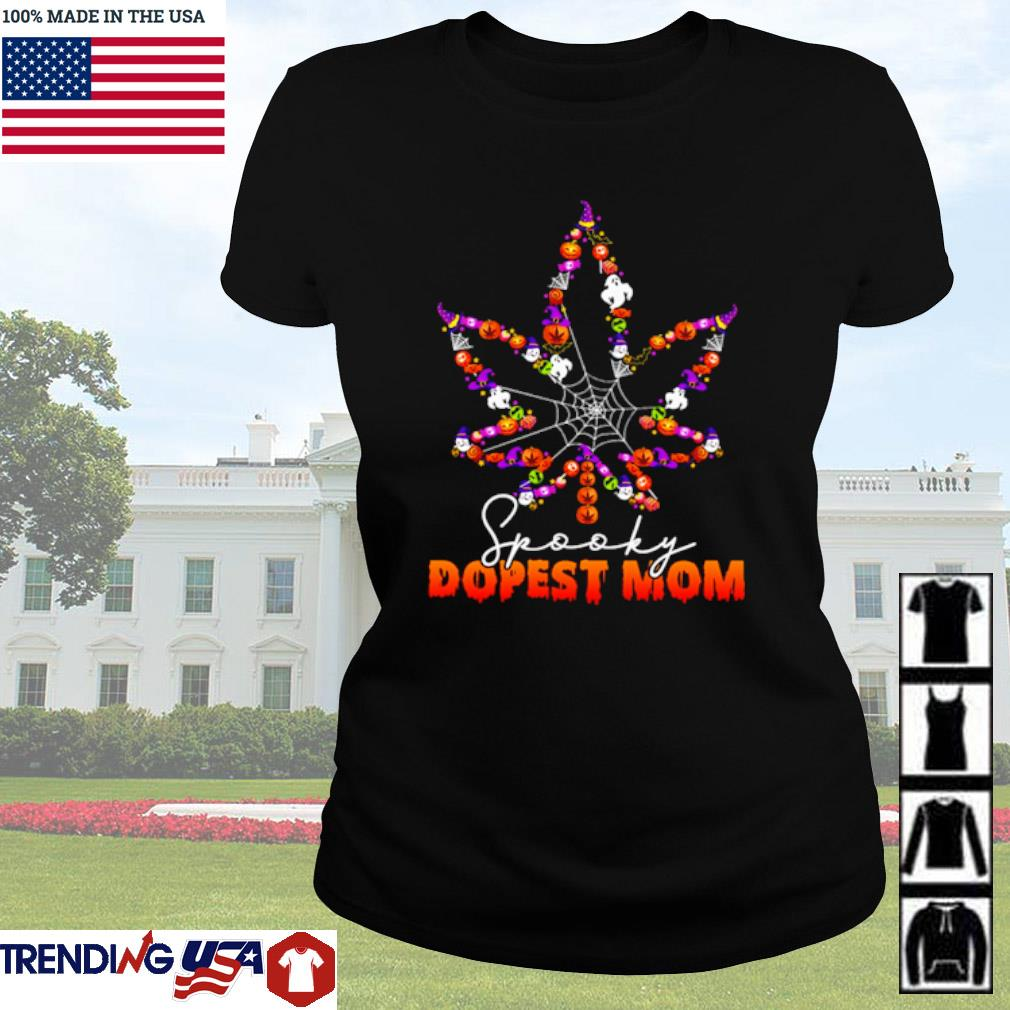 Halloween Cannabis spooky dopest mom s Ladies Tee Black