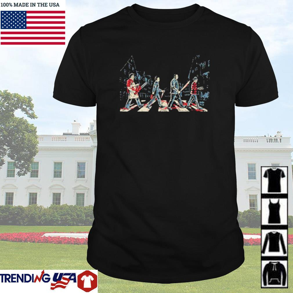 Horror character movies Abbey Road shirt