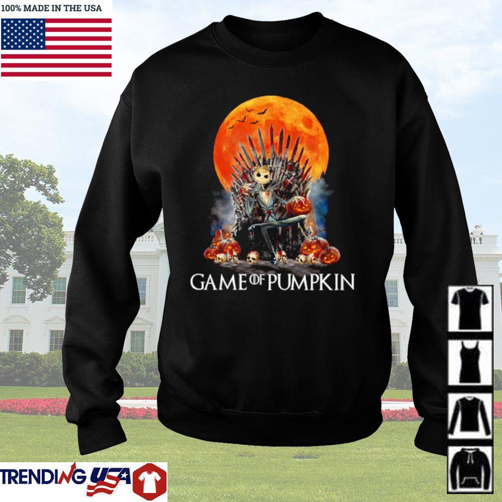 Jack Skellington Game of pumpkin blood moon s Sweater Black