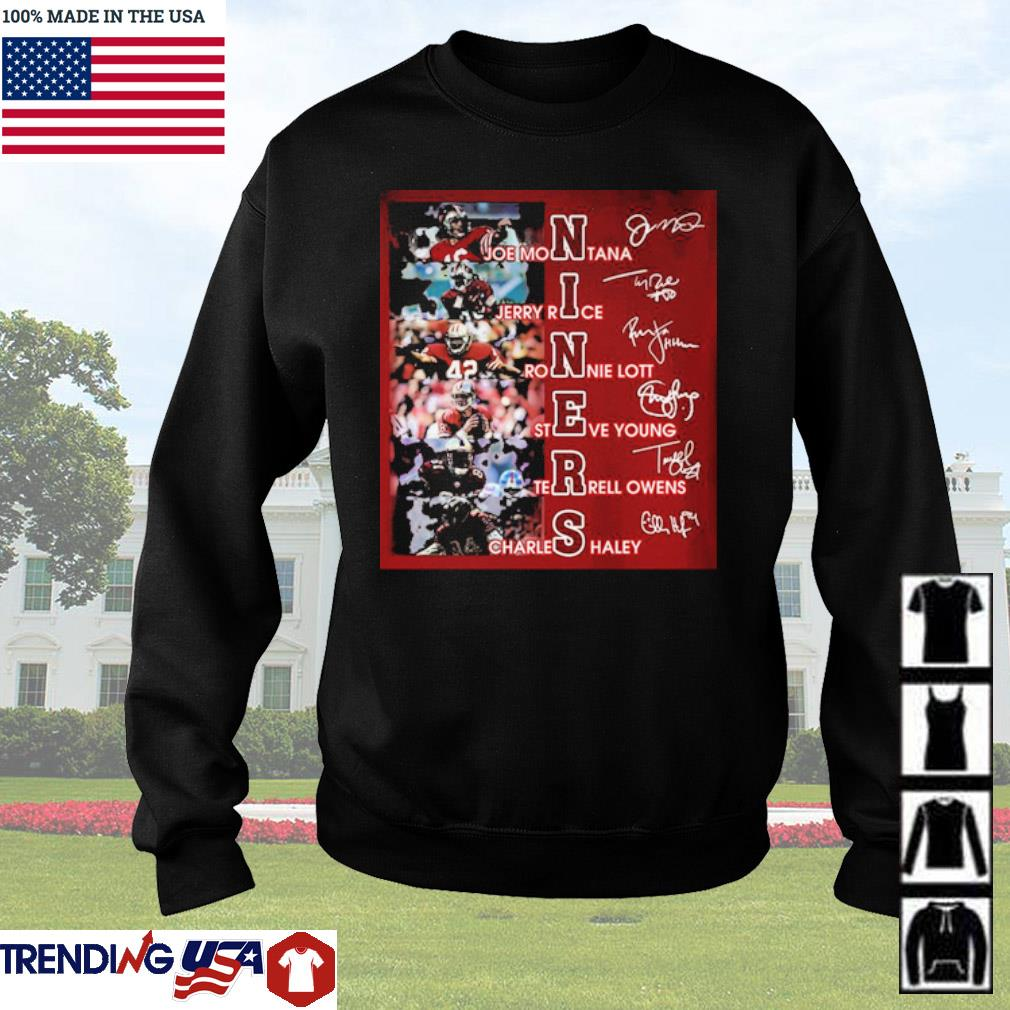 Niners team players signatures s Sweater Black