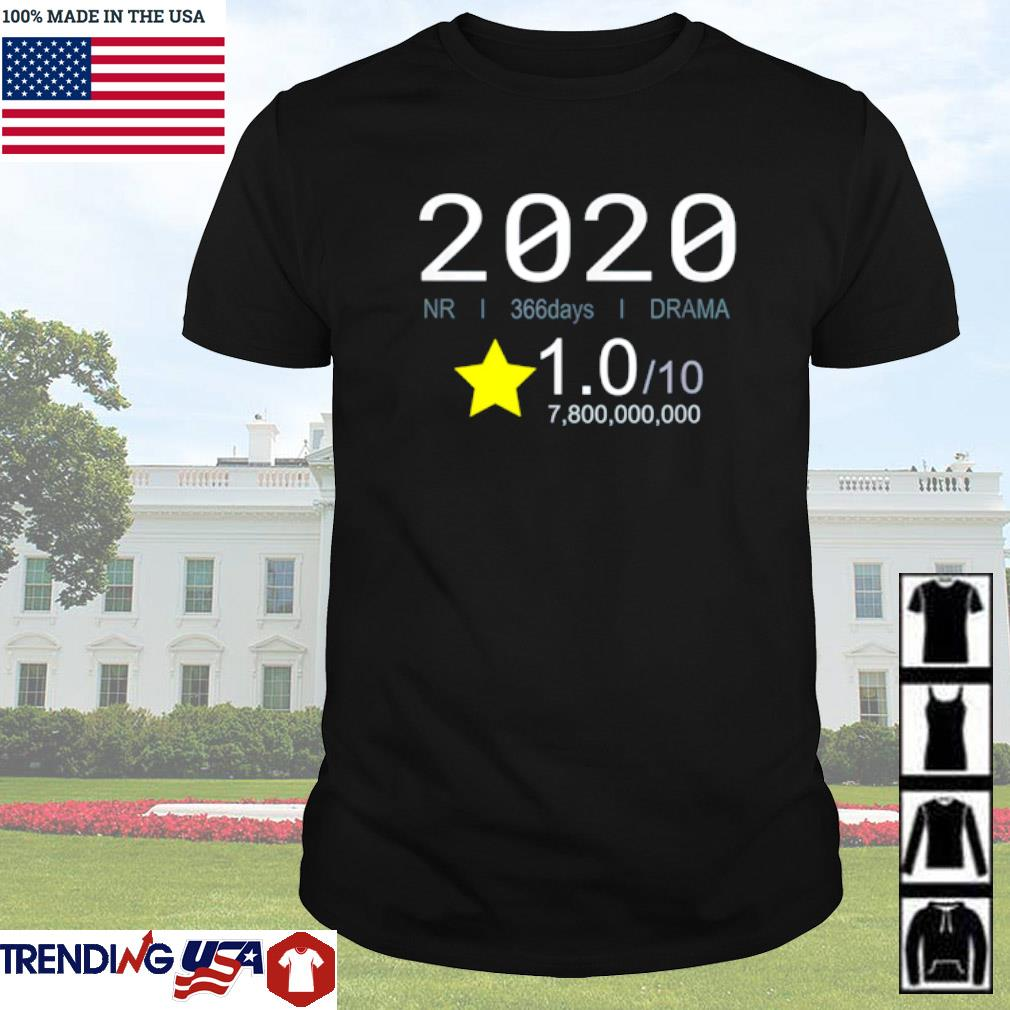 2020 Review movie style 1 star rating shirt