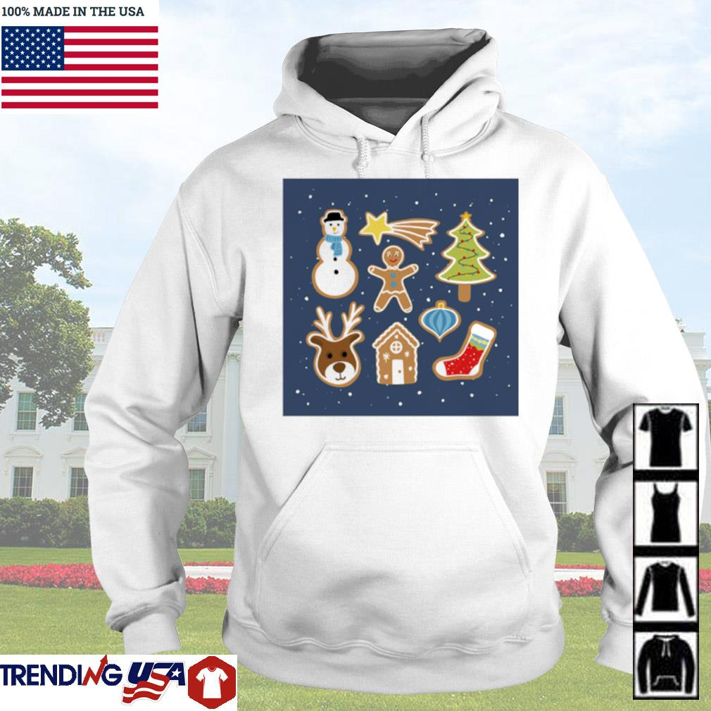 Christmas day reindeer snowman socks and house sweater Hoodie