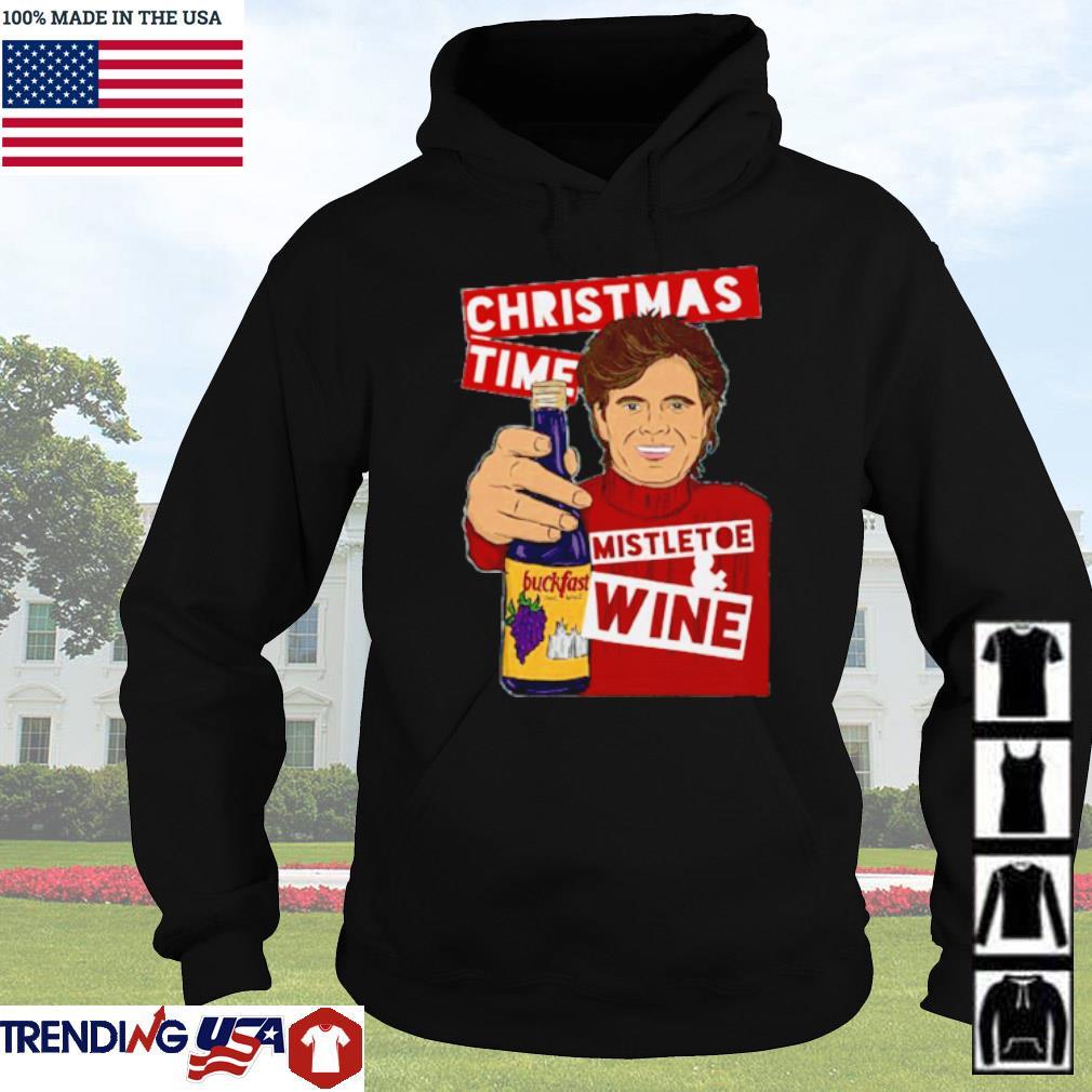 Christmas time Mistletoe wine sweater Hoodie