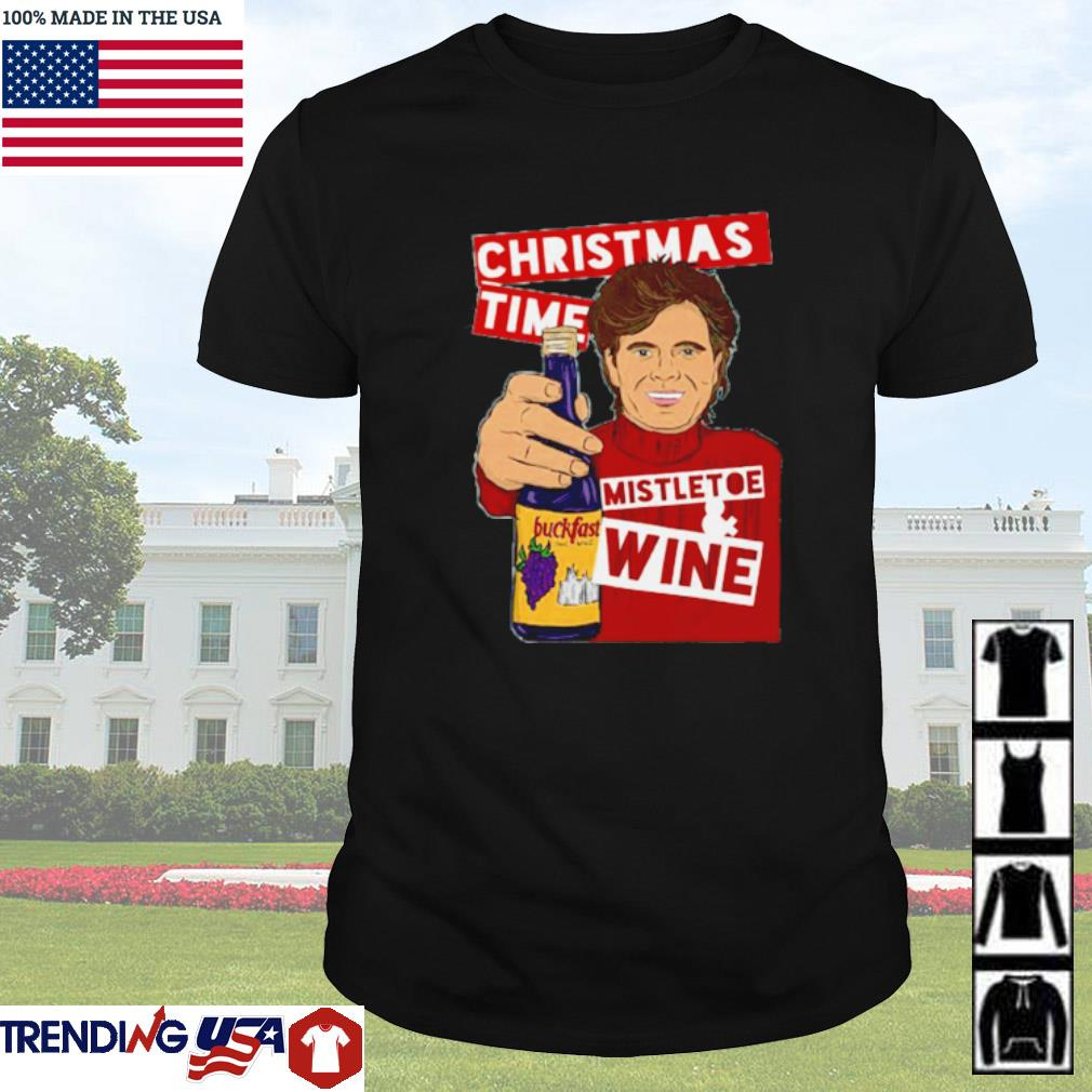 Christmas time Mistletoe wine sweater