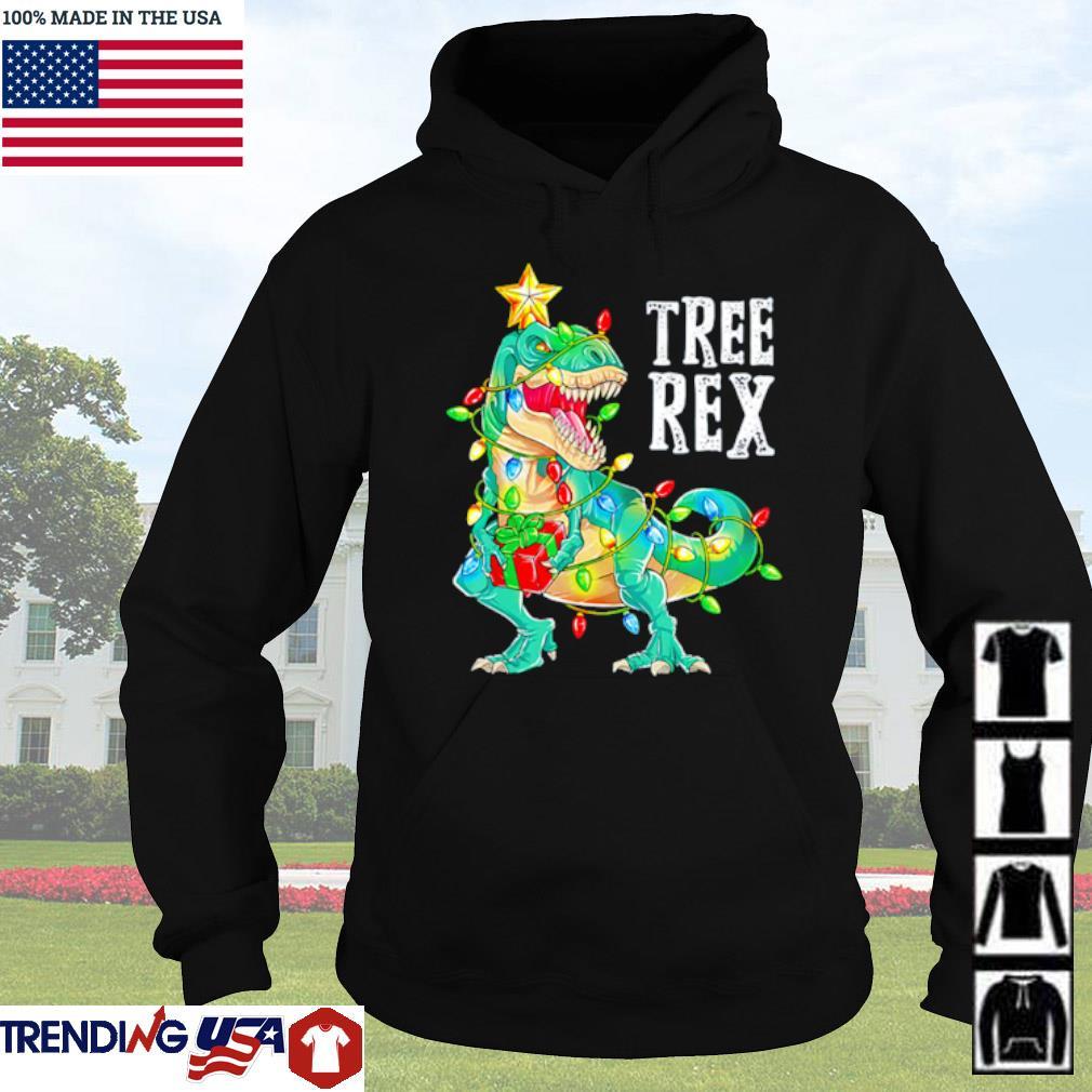 Dinosaur Christmas Tree Rex sweater Hoodie