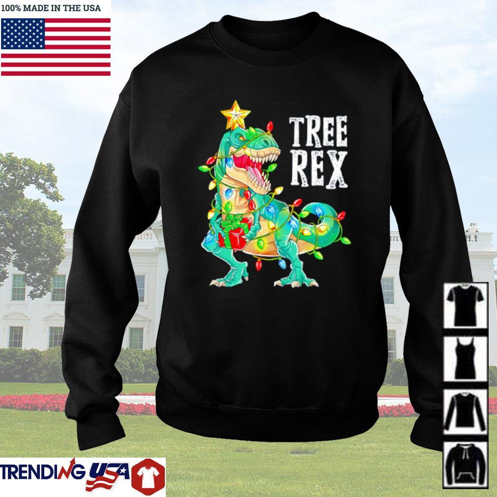 Dinosaur Christmas Tree Rex sweater