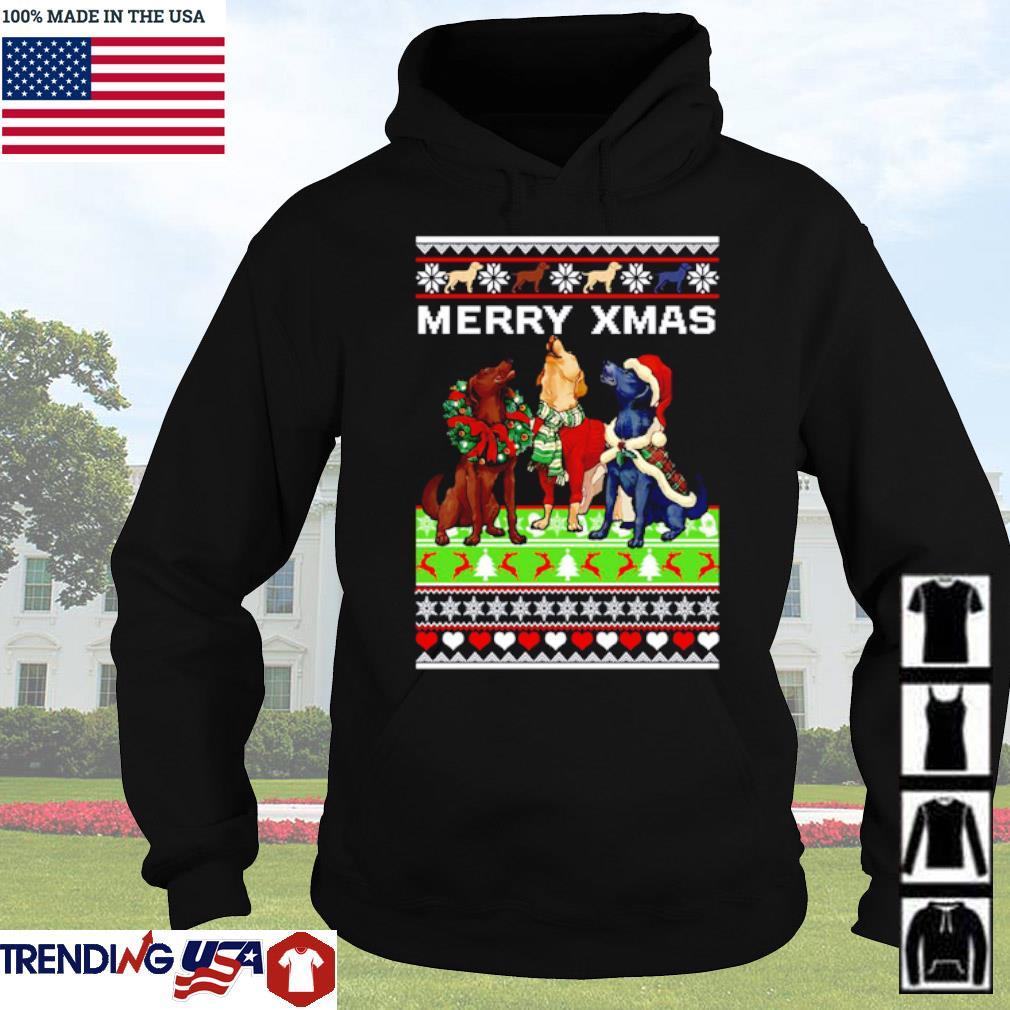 Dog mery xmas ugly christmas sweater Hoodie