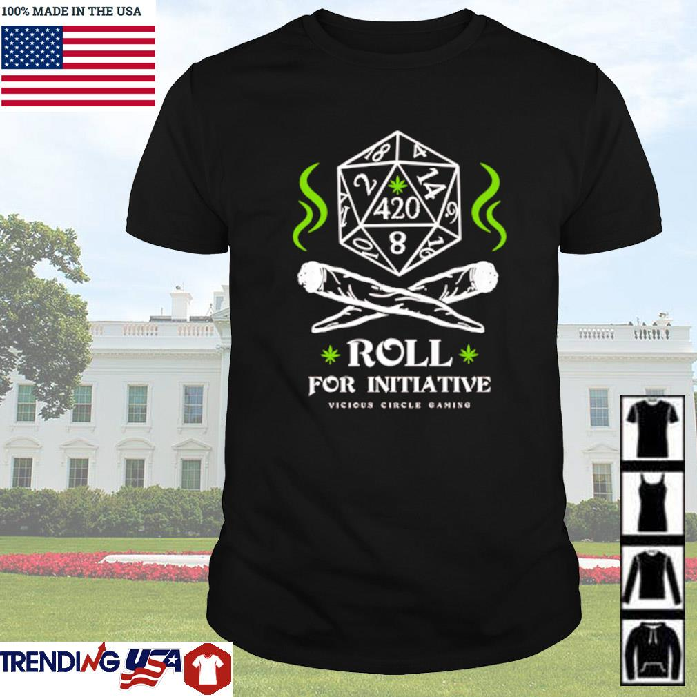 Dungeon roll for initiative vicious circle gaming shirt