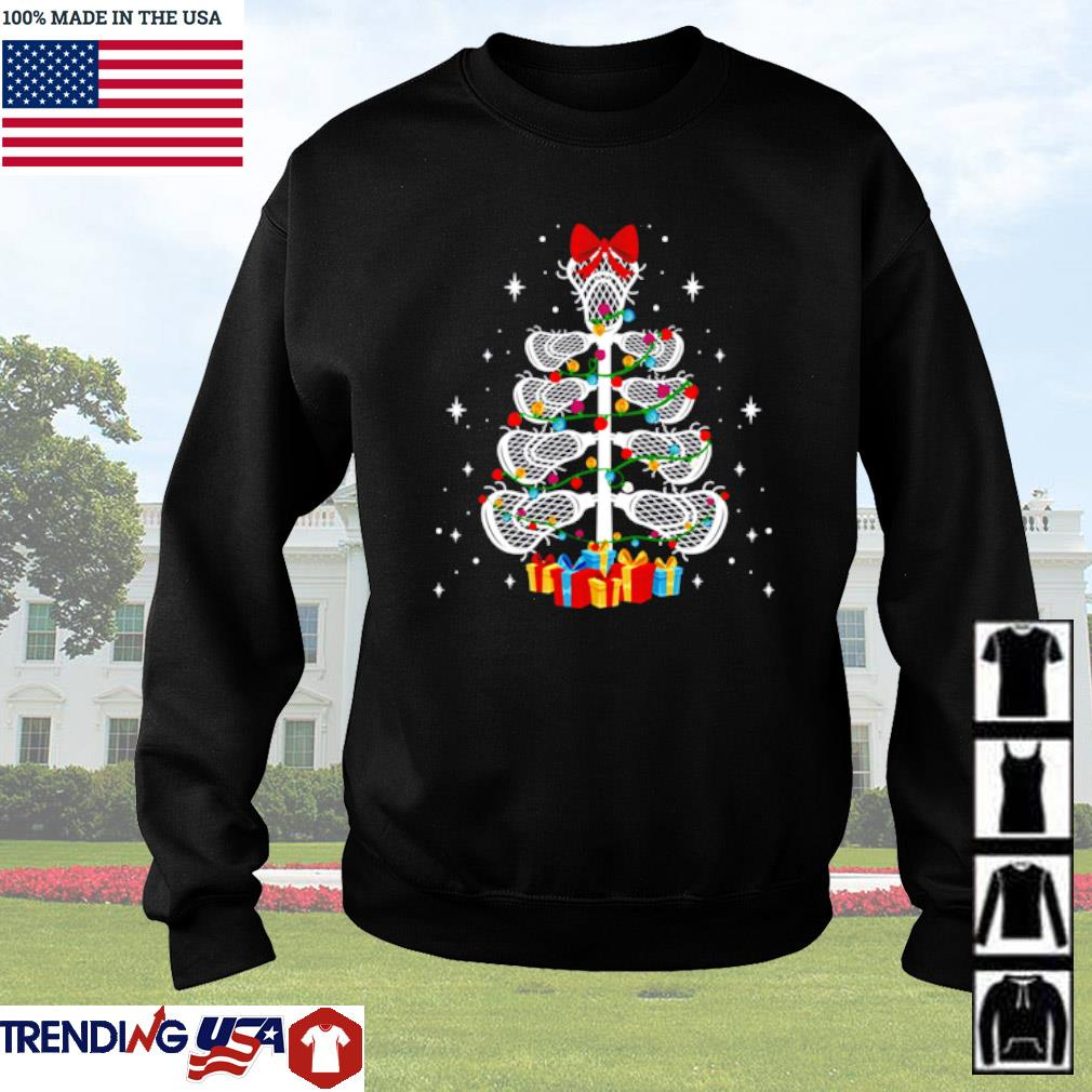 Lacrosse player Christmas sweater