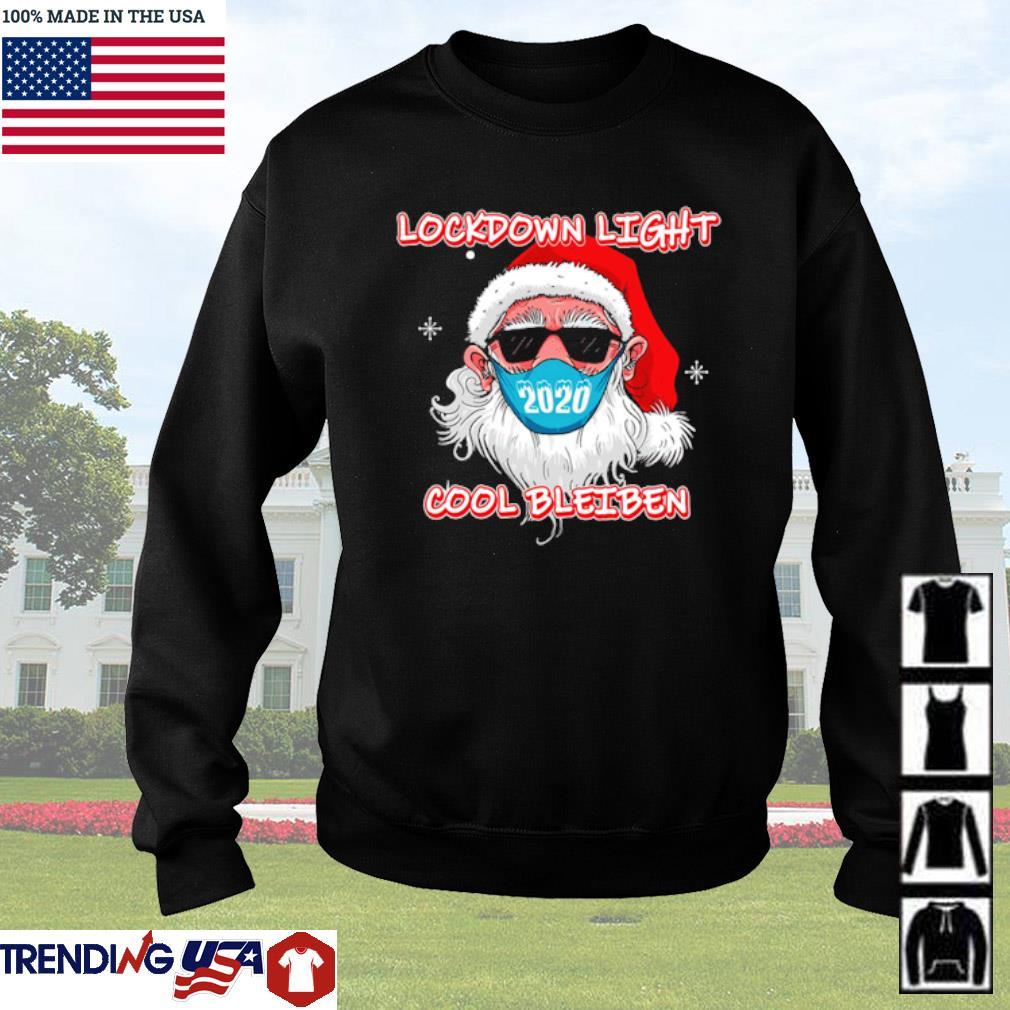 Lockdown light Santa Claus face mask 2020 cool bleiben sweater