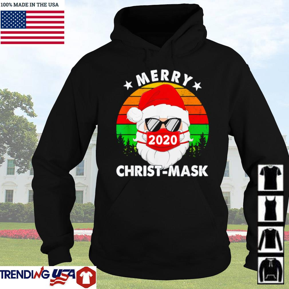 Merry Christ-Mask 2020 Santa face mask pajama sweater Hoodie