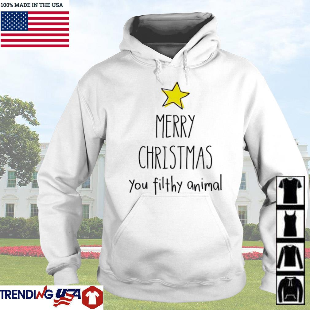 Merry Christmas you filthy animal sweater Hoodie