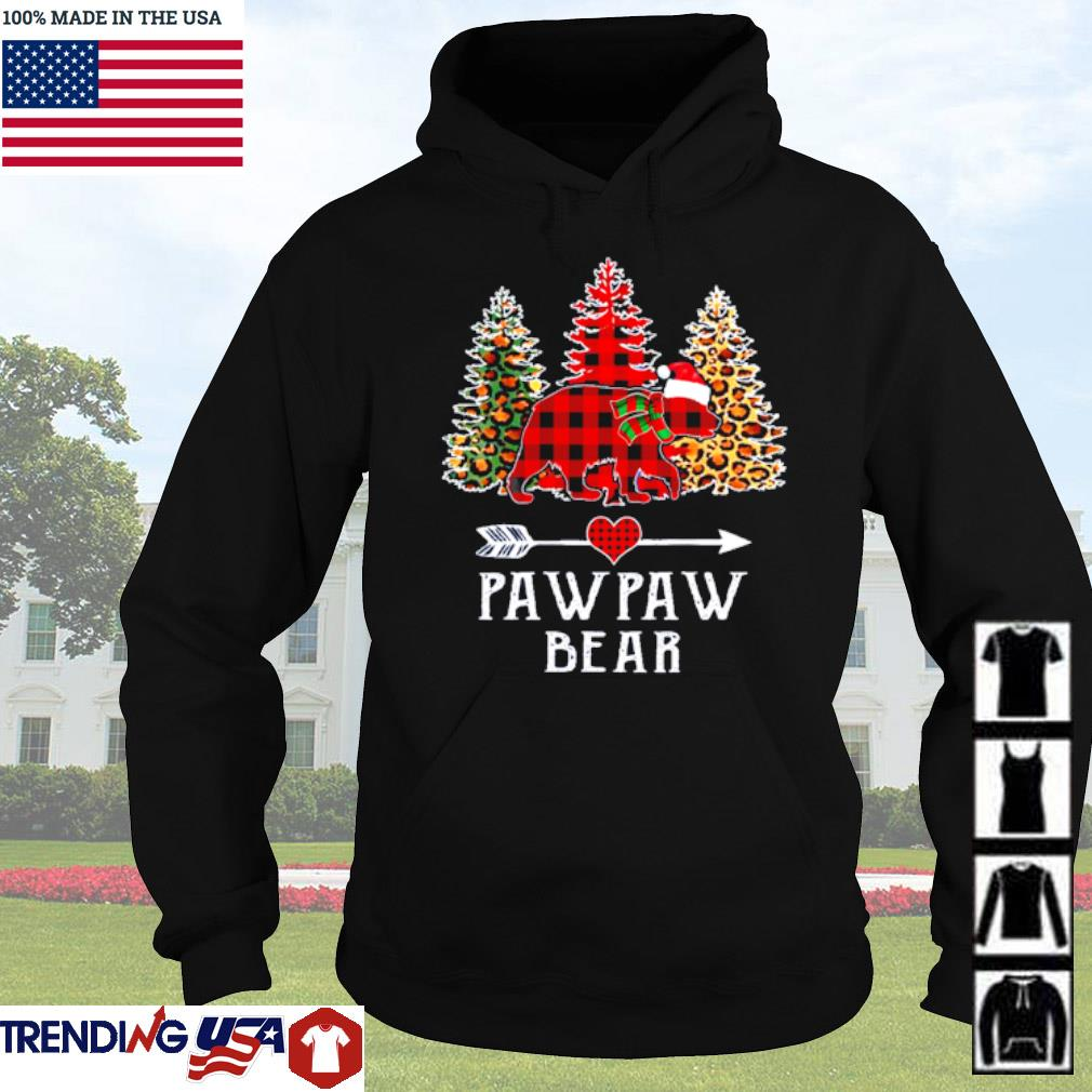 Pawpaw bear leopard red buffalo Christmas sweater Hoodie