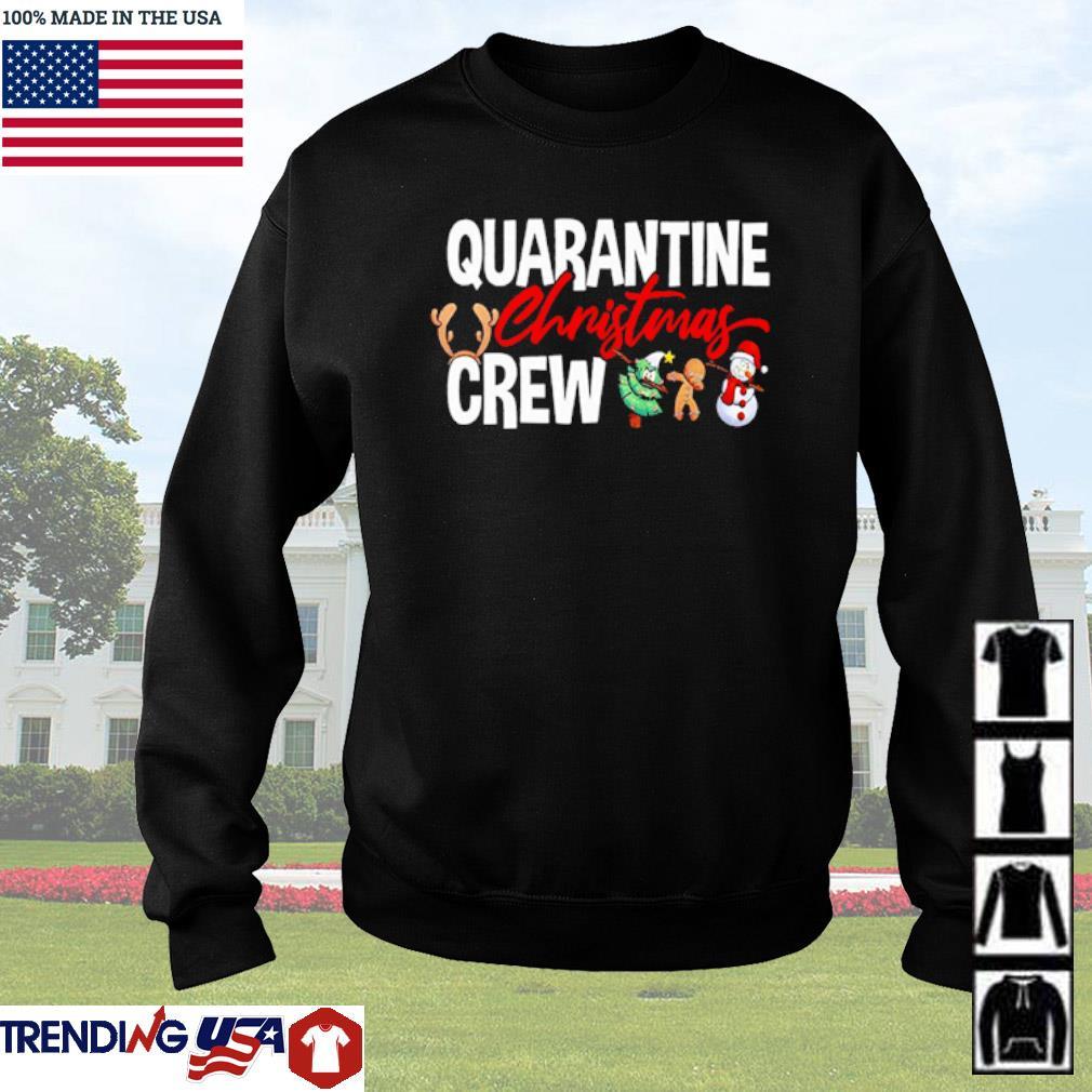 Quarantine Christmas crew snowman Christmas tree cake dabbing sweater