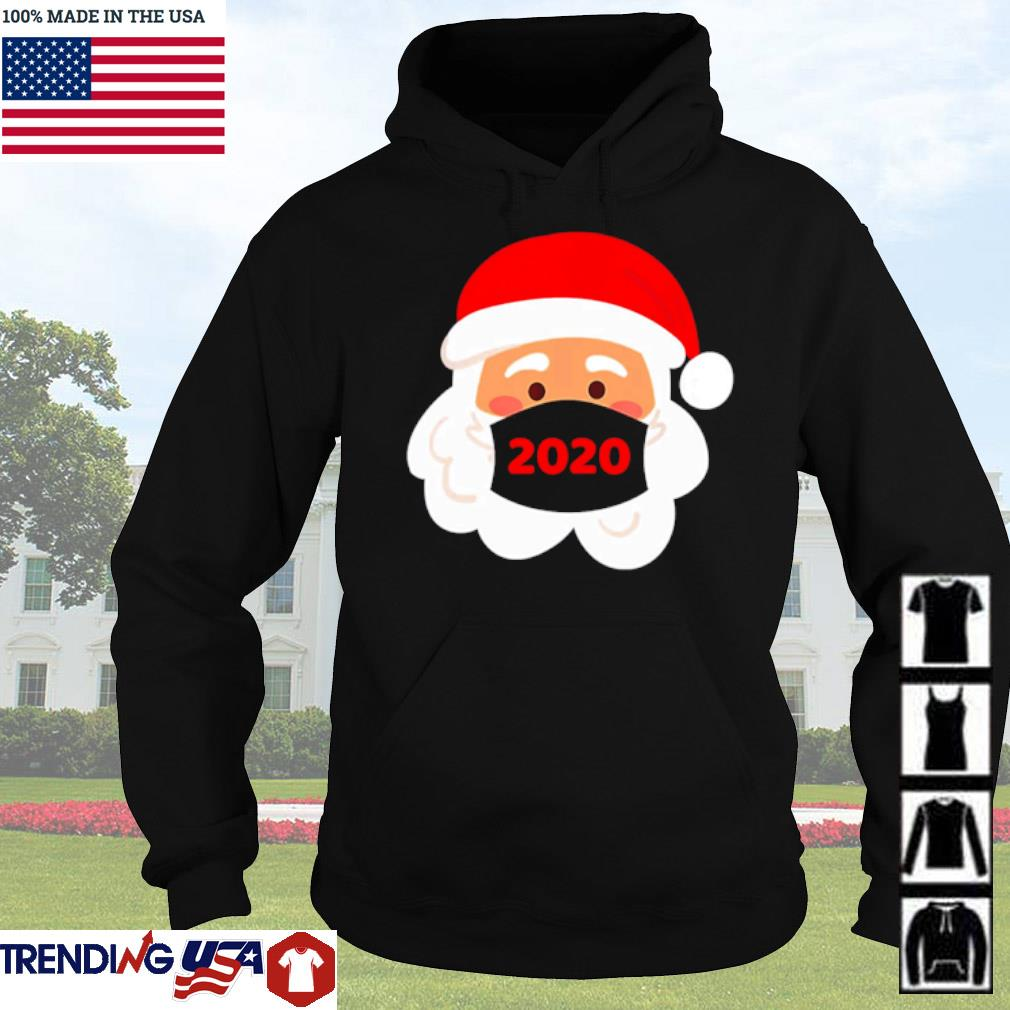 Santa Claus wearing face mask 2020 Christmas sweater Hoodie