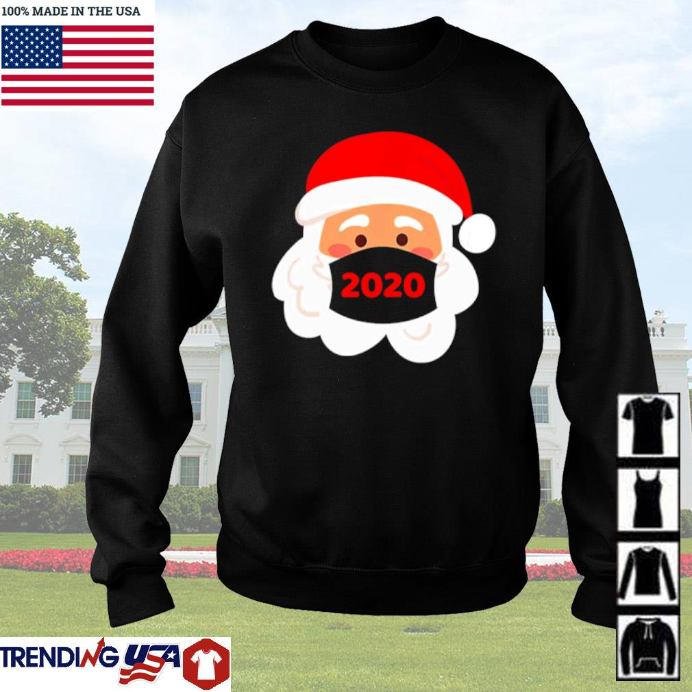 Santa Claus wearing face mask 2020 Christmas sweater