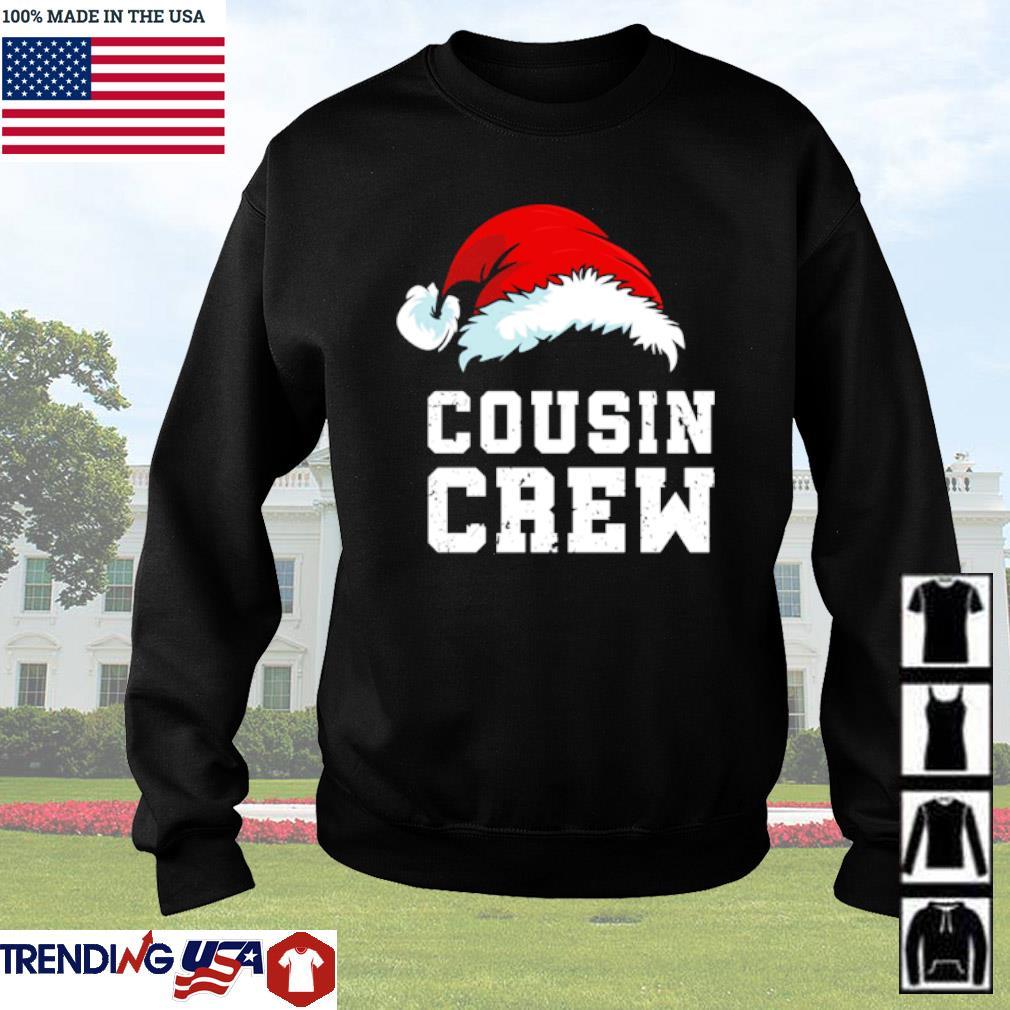 Santa hat Cousin crew Christmas sweater
