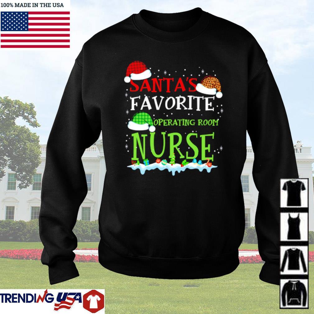 Santa's favorite operating room nurse Christmas sweater