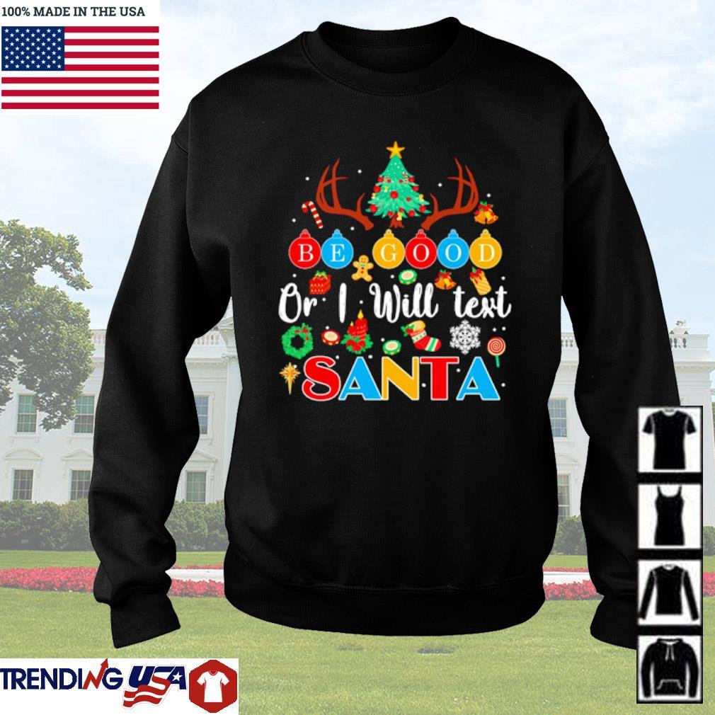 Teacher or I will test Santa Christmas sweater