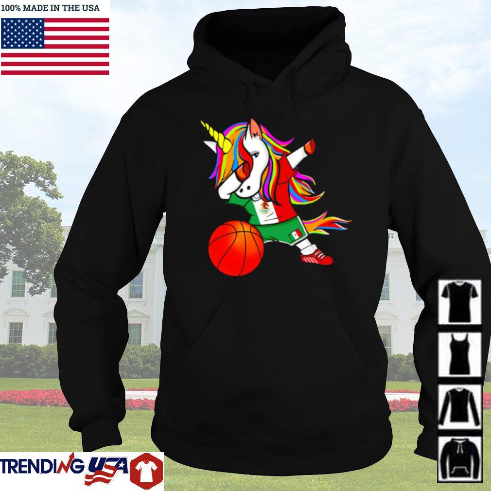 Unicorn dabbing Mexico basketball s Hoodie