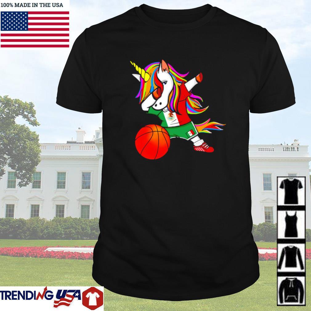 Unicorn dabbing Mexico basketball shirt