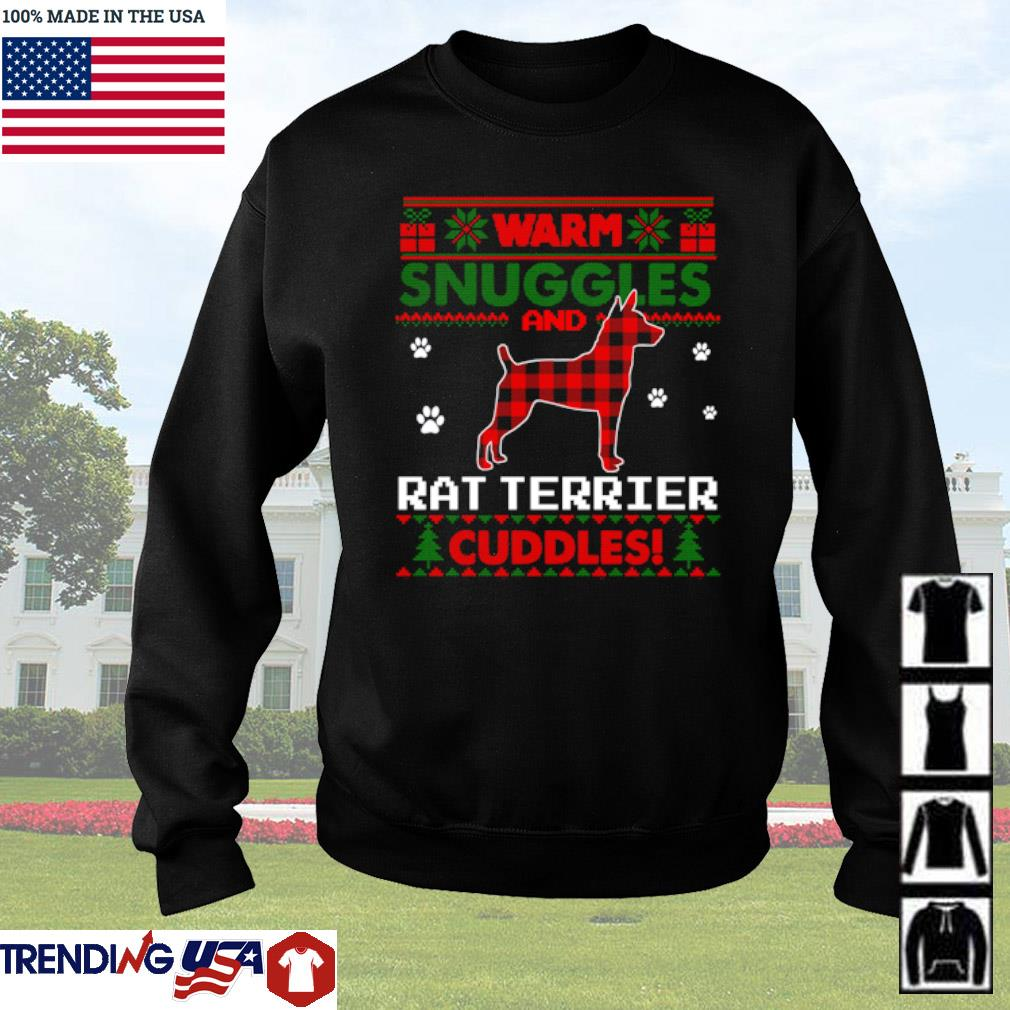 Warm snuggles and Rat Terrier cuddles Pajama ugly Christmas sweater
