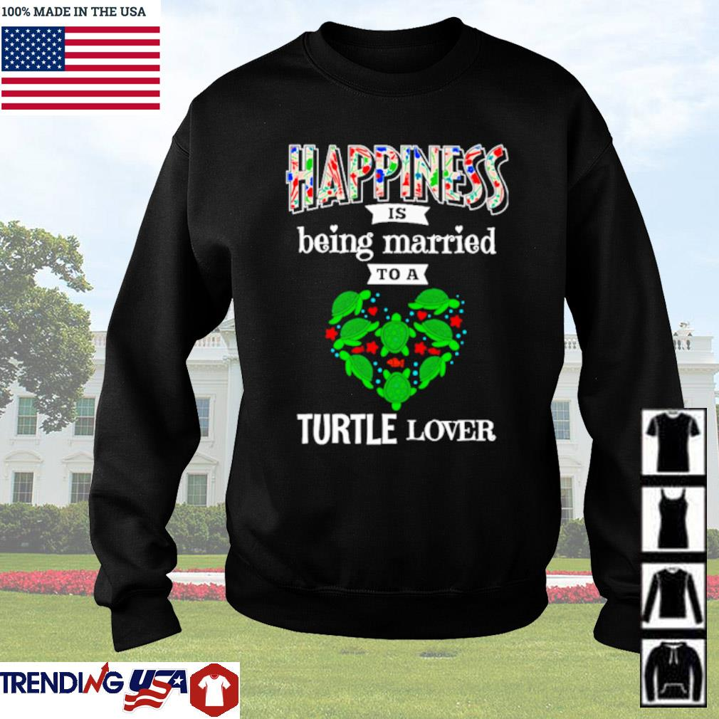 Happiness is being married to a turtle lover Christmas sweater